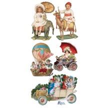 1 Sheet of Stickers Mixed Victorian Children