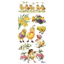 1 Sheet of Stickers Mixed Easter Chicks