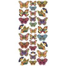 1 Sheet of Stickers Multi Color Butterflies