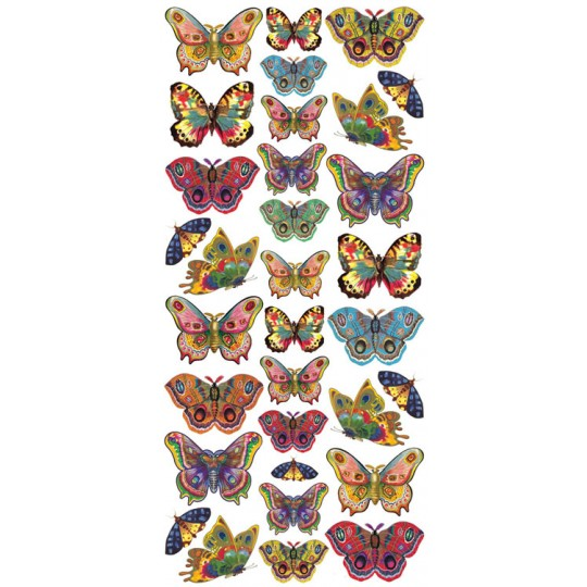 1 Sheet of Stickers Multi Color Butterflies