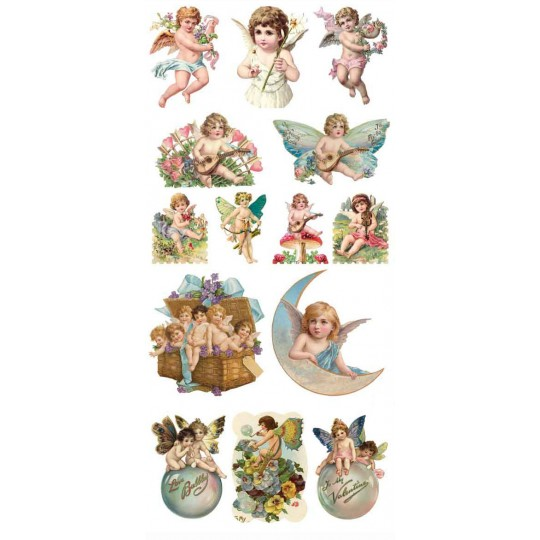 1 Sheet of Stickers Victorian Angels and Cherubs