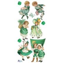 1 Sheet of Stickers St. Patricks Day Children