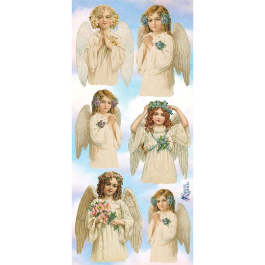 1 Sheet of Stickers Heavenly Angels
