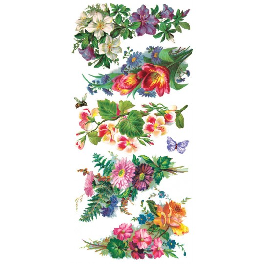 1 Sheet of Stickers Mixed Floral Corners