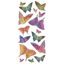1 Sheet of Stickers Colorful Stained Glass Butterflies