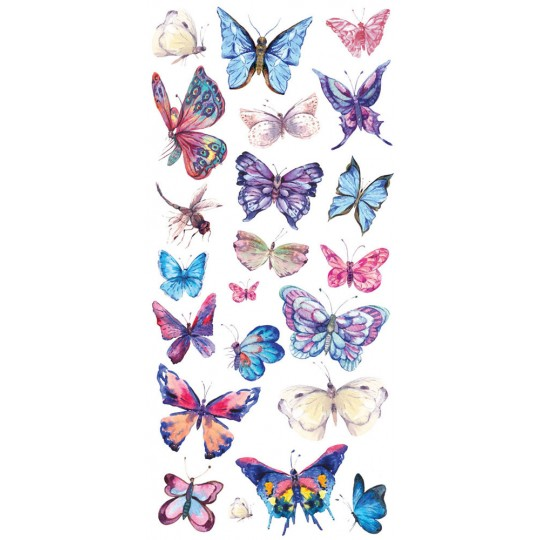 1 Sheet of Stickers Pastel Butterflies