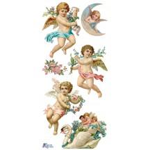 1 Sheet of Stickers Angels with Flowers