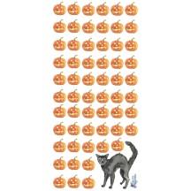 1 Sheet of Stickers Halloween Pumpkin + Black Cat