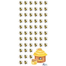 1 Sheet of Stickers Bees and Hive