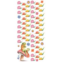 1 Sheet of Stickers Snails and Frog on Mushroom