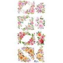 1 Sheet of Stickers Mixed Flower Corners