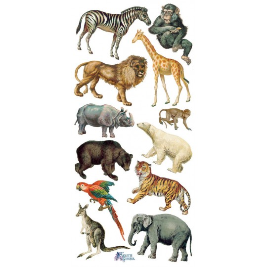 1 Sheet of Stickers Mixed Wild Animals