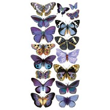 1 Sheet of Stickers Lavender Butterflies