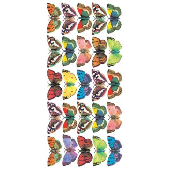1 Sheet of Stickers Medium Colorful Butterflies