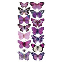 1 Sheet of Stickers Purple Mixed Butterflies