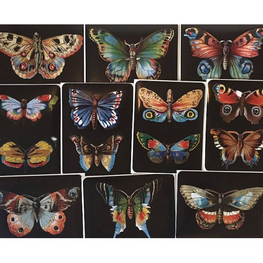 Vintage Butterflies Large Sticker Box Set