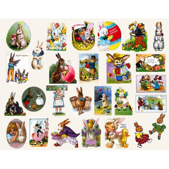 Easter Bunnies Large Sticker Box Set
