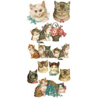 1 Sheet of Stickers Mixed Classic Kitty Cats