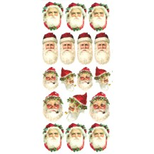 1 Sheet of Stickers Victorian Santa Faces