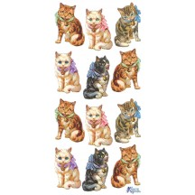 1 Sheet of Stickers Cats with Bows