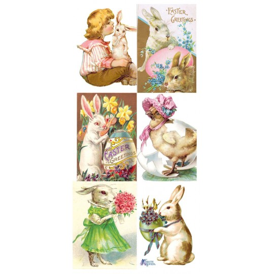 1 Sheet of Stickers Old Fashioned Easter Mix
