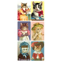 1 Sheet of Stickers Fancy Dress Cats