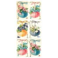 1 Sheet of Stickers Old Fashioned Floral Easter Eggs