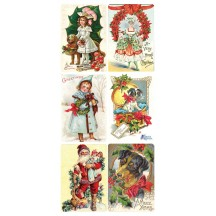 1 Sheet of Stickers Victorian Christmas Mix