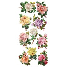 1 Sheet of Stickers Mixed Pastel Roses