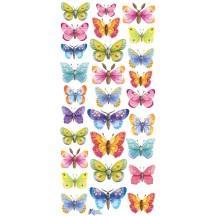 1 Sheet of Stickers Watercolor Butterflies