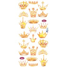 1 Sheet of Stickers Mixed Crowns