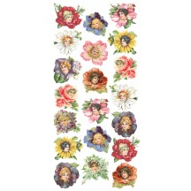 1 Sheet of Stickers Mixed Flower Girls