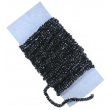 Black & Silver Chenille Sparkle Cording ~ 5 yards