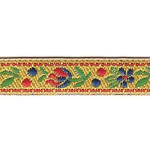 "Petite Yellow Floral Folk Costume Trim ~ Czech Republic ~ 3/8"" wide"
