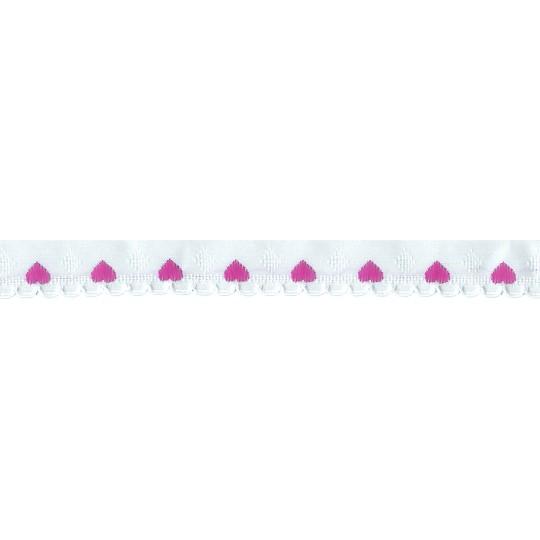 """Scalloped Pink Heart Trim ~ Czech Republic ~ 1/4"""" wide"""