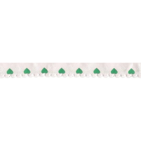 """Scalloped Teal Green Heart Trim ~ Czech Republic ~ 1/4"""" wide"""