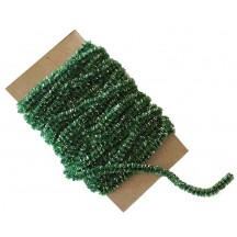 Green & Silver Chenille Sparkle Cording ~ 5 yards