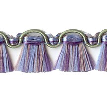 Fancy Tassel Fringe Trim in Olive, Orchid & Pink