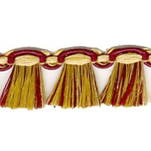 Fancy Tassel Fringe Trim in Burgundy, Gold & Eggplant