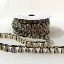 Fancy Tassel Fringe Trim in Green, Gold & Lichen