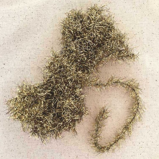 Antique Gold Lametta Tinsel Trim ~ 1 yard ~ Germany