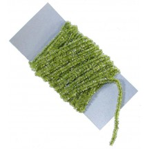 Celery Green & Silver Chenille Sparkle Cording ~ 5 yards