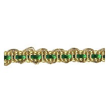 "Petite Fancy Decorative Trim in Metallic Gold and Green ~ 1/4"" wide"