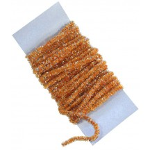 Pumpkin Orange & Silver Chenille Sparkle Cording ~ 5 yards