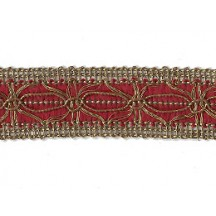 Old Store Stock Antique Gold and Burgundy Extra Fancy Trim ~ Vintage
