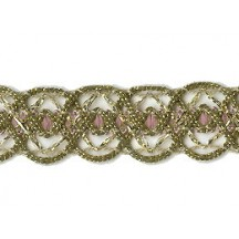 Old Store Stock Gold and Light Pink Extra Fancy Trim ~ Vintage