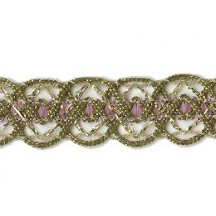 Old Store Stock Gold and Dusty Rose Extra Fancy Trim ~ Vintage
