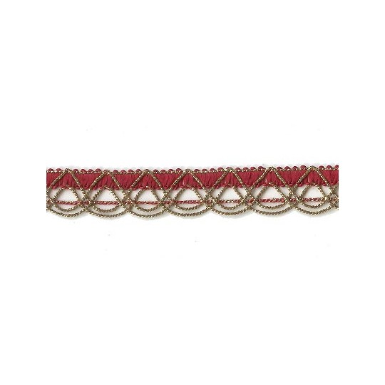 Old Store Stock Gold and Deep Red Extra Fancy Looped Trim ~ Vintage