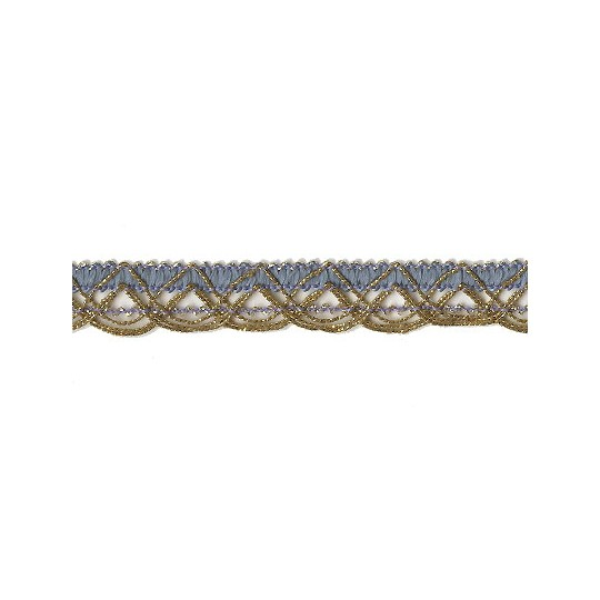 Old Store Stock Gold and Blue Extra Fancy Looped Trim ~ Vintage