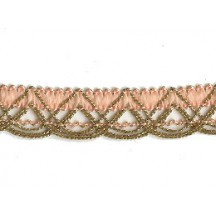 Old Store Stock Gold and Peach Extra Fancy Looped Trim ~ Vintage